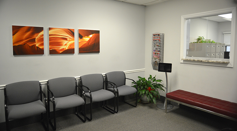 The Endocrine Center waiting area
